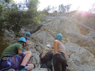 Family climbing in Mallorca